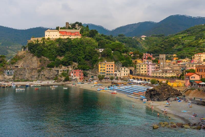 Égua em Cinque Terre, Itália do al de Monterosso fotografia de stock