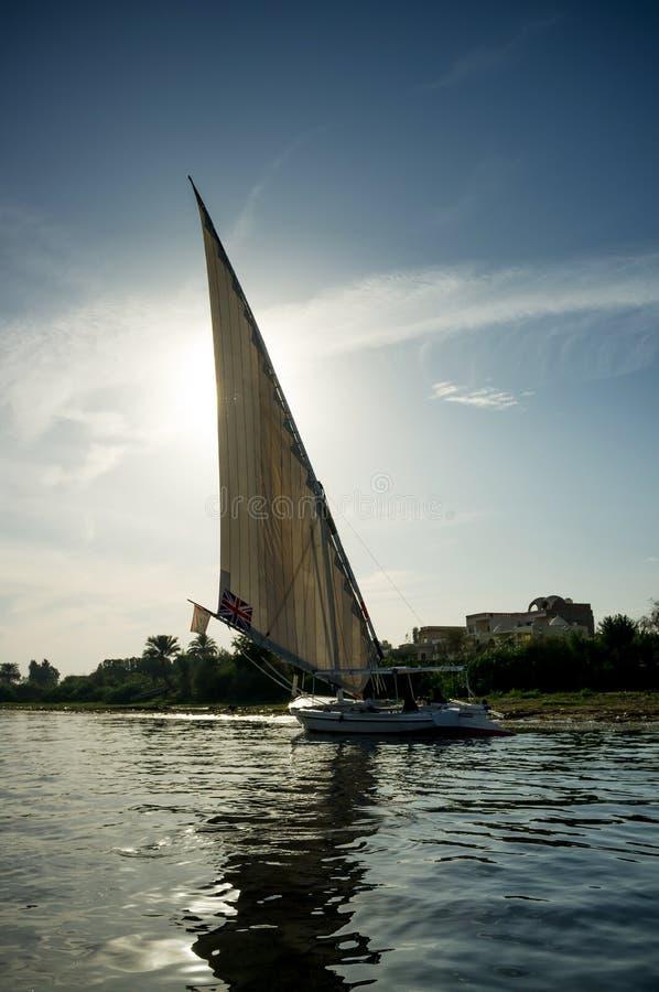 Égypte Bateau chez le Nil à Louxor photographie stock