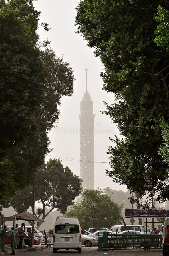 Égypte Tour du Caire dans le brouillard enfumé dense photo libre de droits