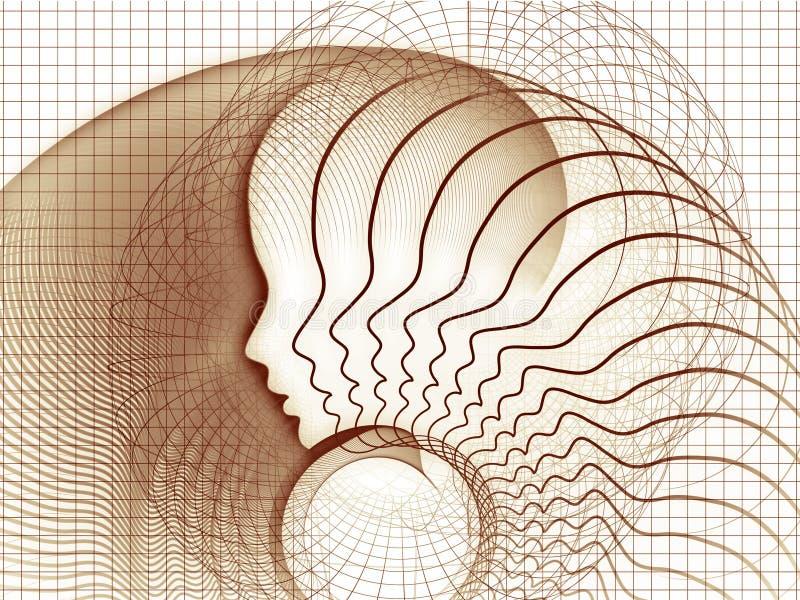 Élégance de la géométrie d'âme illustration de vecteur