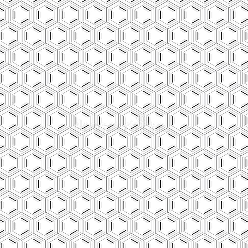 Élégance unique abstraite élégante Gray Seamless Stripe Pattern hexagonal de simplicité illustration de vecteur