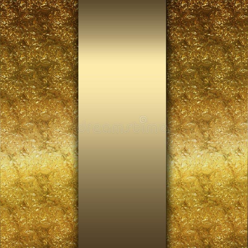 Or élégant et fond brun photographie stock