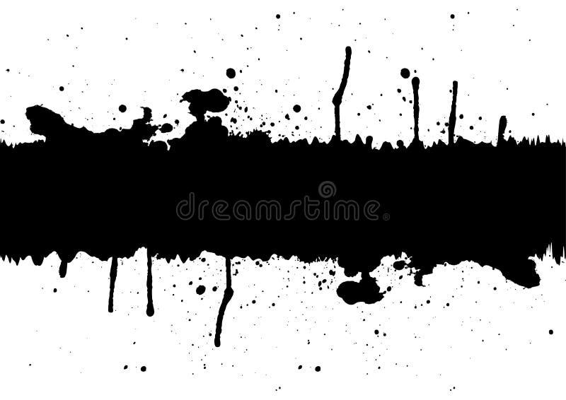 Élément à l'encre noire abstrait de fond d'éclaboussure avec un espace illu illustration de vecteur