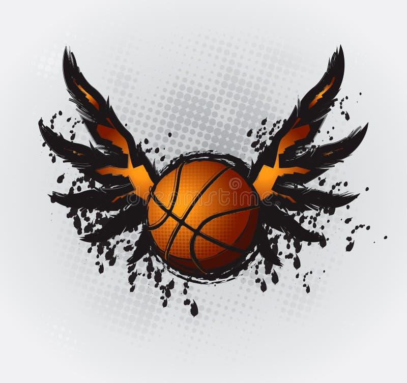 Élément 1 de conception de basket-ball illustration libre de droits