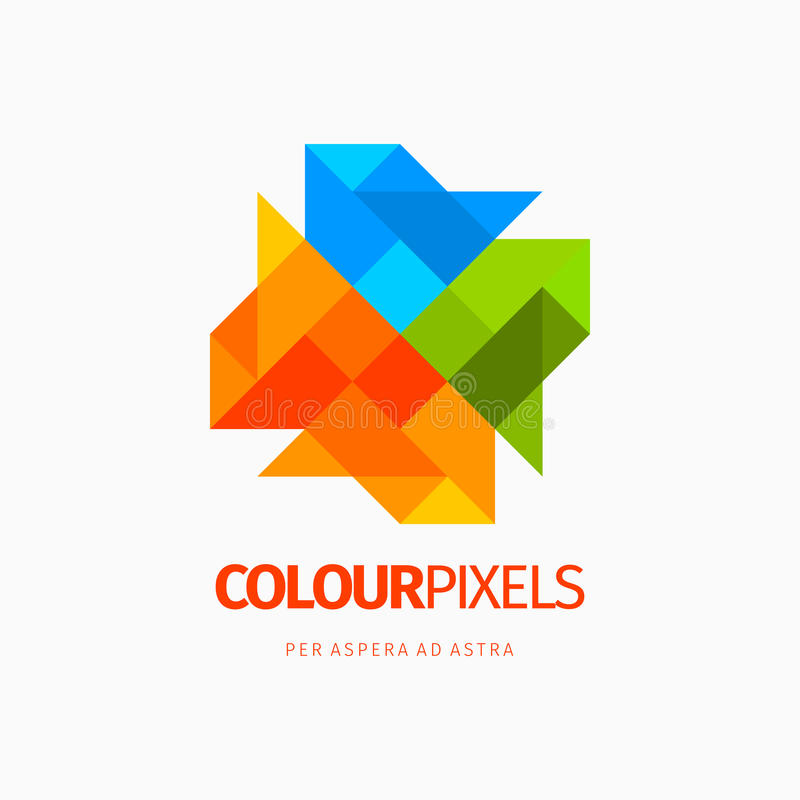 Élément abstrait coloré moderne de logo de conception d'icône Meilleur pour l'identité et les logotypes illustration de vecteur