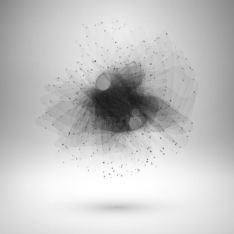Élément abstrait de fil avec les lignes reliées et illustration libre de droits