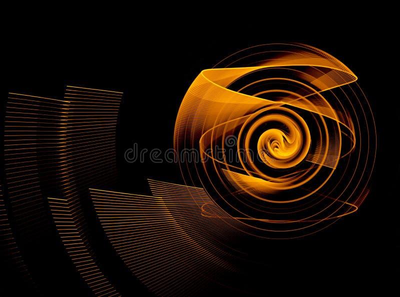 Élément abstrait de fractale dans le mouvement de rotation pour votre conception image stock