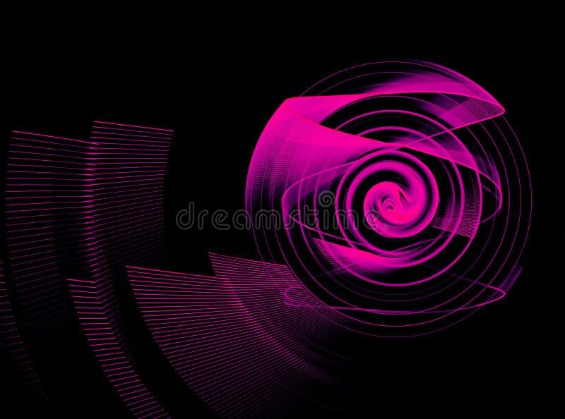 Élément abstrait de fractale dans le mouvement de rotation pour votre conception images stock