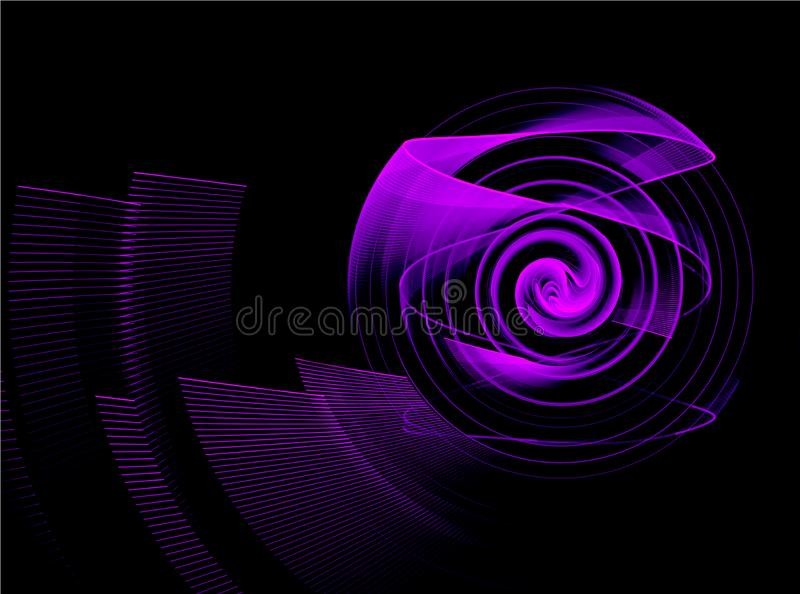 Élément abstrait de fractale dans le mouvement de rotation pour votre conception photographie stock libre de droits