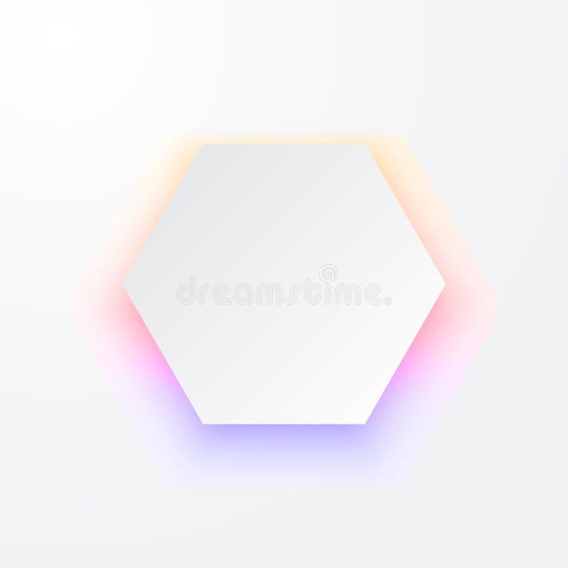Élément abstrait de la conception 3d avec l'ombre colorée Forme géométrique avec l'effet d'ombre de baisse illustration stock