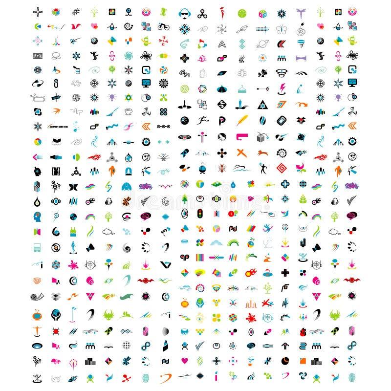 Élément abstrait de logo - vecteur de conception de logo d'isolement sur le fond blanc illustration stock