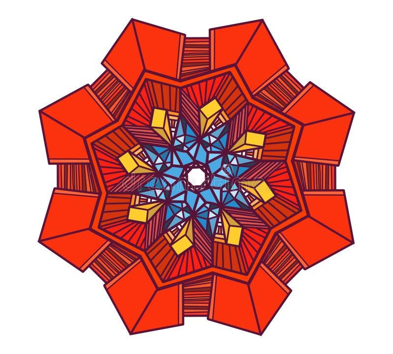Élément abstrait rouge d'étoile photo libre de droits