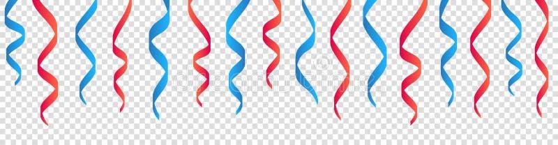 Élément américain de conception de ruban de Jour de la Déclaration d'Indépendance sur le fond transparent illustration libre de droits
