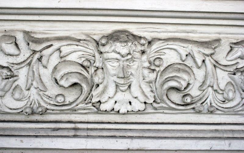 Élément architectural de Dekorativny de la façade et d'une frise blanc image stock
