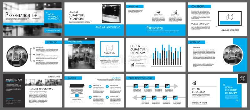 Élément bleu et blanc pour la glissière infographic sur le fond pres illustration libre de droits