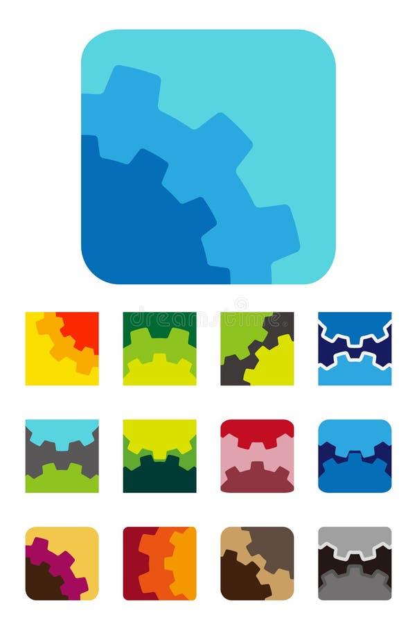 Élément carré de logo de conception illustration de vecteur
