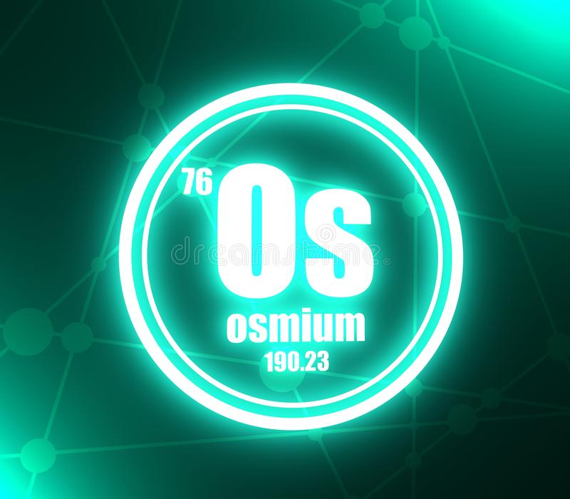 Élément chimique d'osmium illustration de vecteur