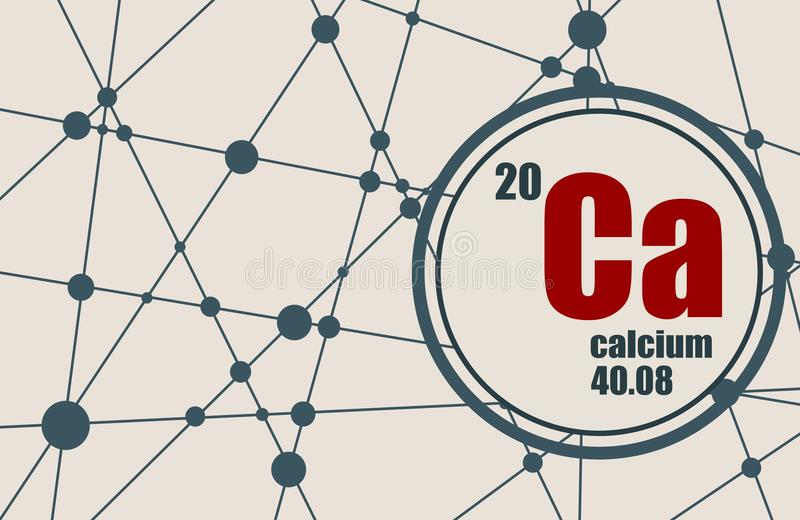 Élément chimique de calcium illustration libre de droits