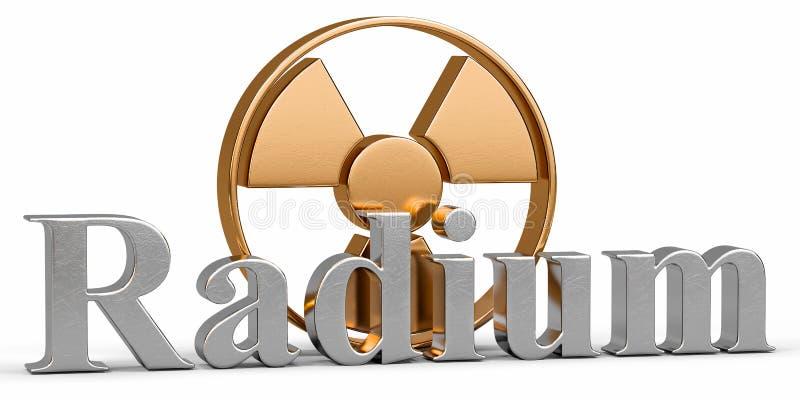 Download Élément Chimique De Radium Avec Le Rayonnement De Symbole Illustration Stock - Illustration du analyse, noir: 45368506