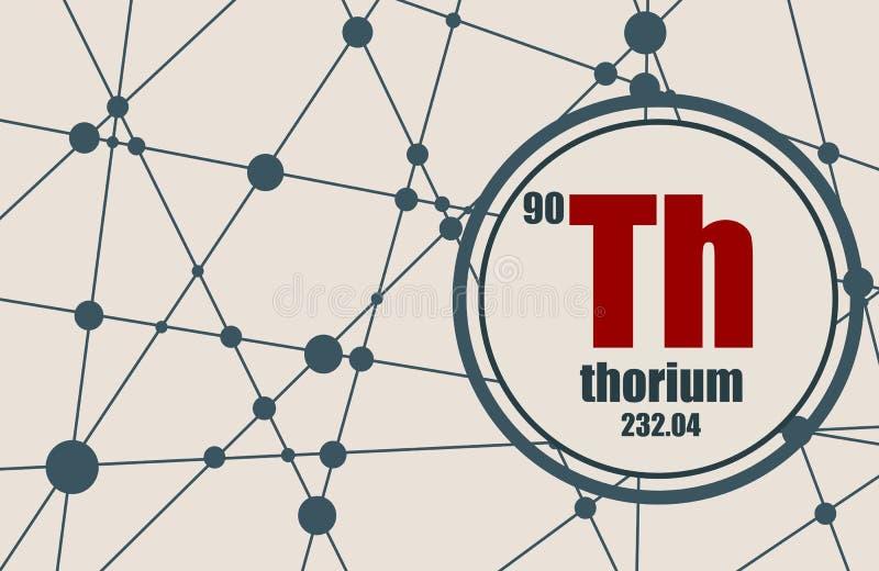 Élément chimique de thorium illustration de vecteur