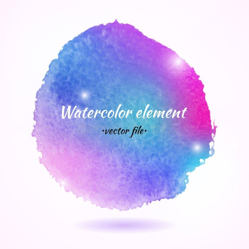 Élément coloré abstrait de vecteur d'aquarelle illustration stock