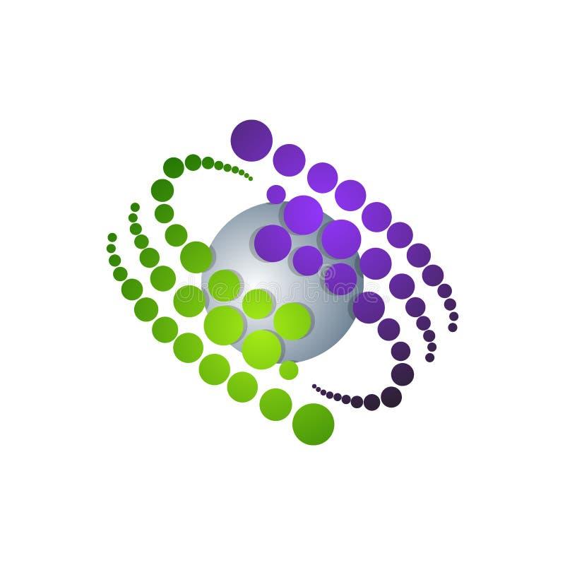 Élément coloré de calibre de vecteur de Logo Design de l'espace de galaxie illustration stock