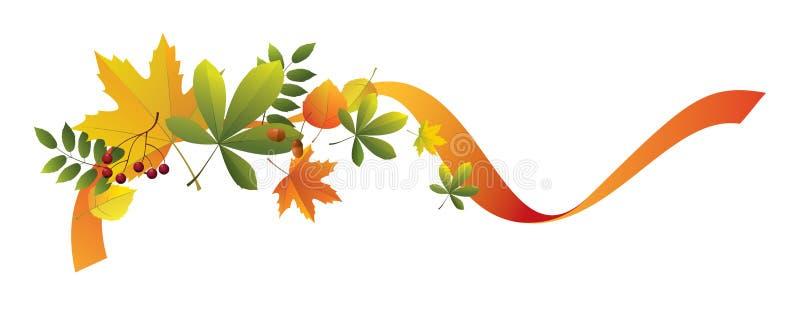 Élément décoratif d'automne illustration stock