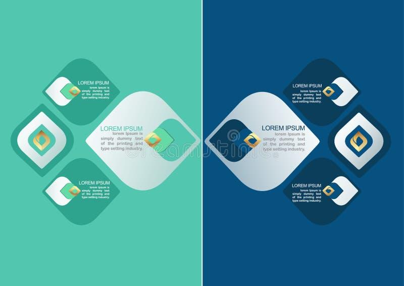 Élément décoratif de modèle de la Thaïlande pour la conception d'Infographic photographie stock