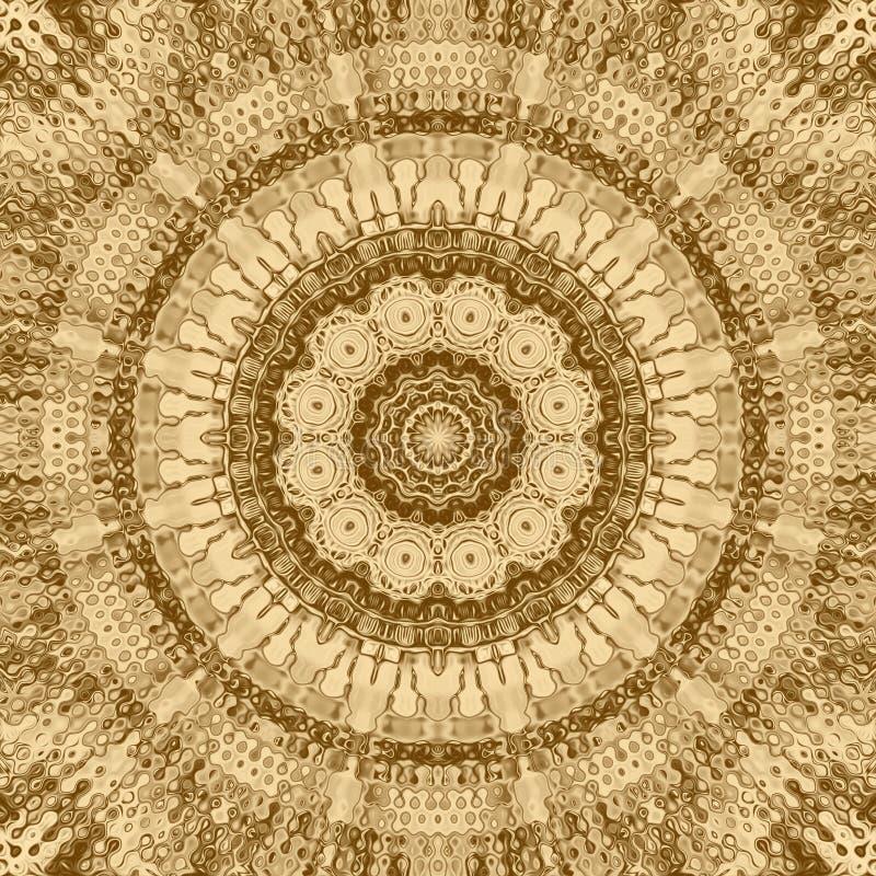Élément d'abrégé sur mosaïque d'or et contexte de kaléidoscope, art de carte de visite professionnelle de visite illustration stock