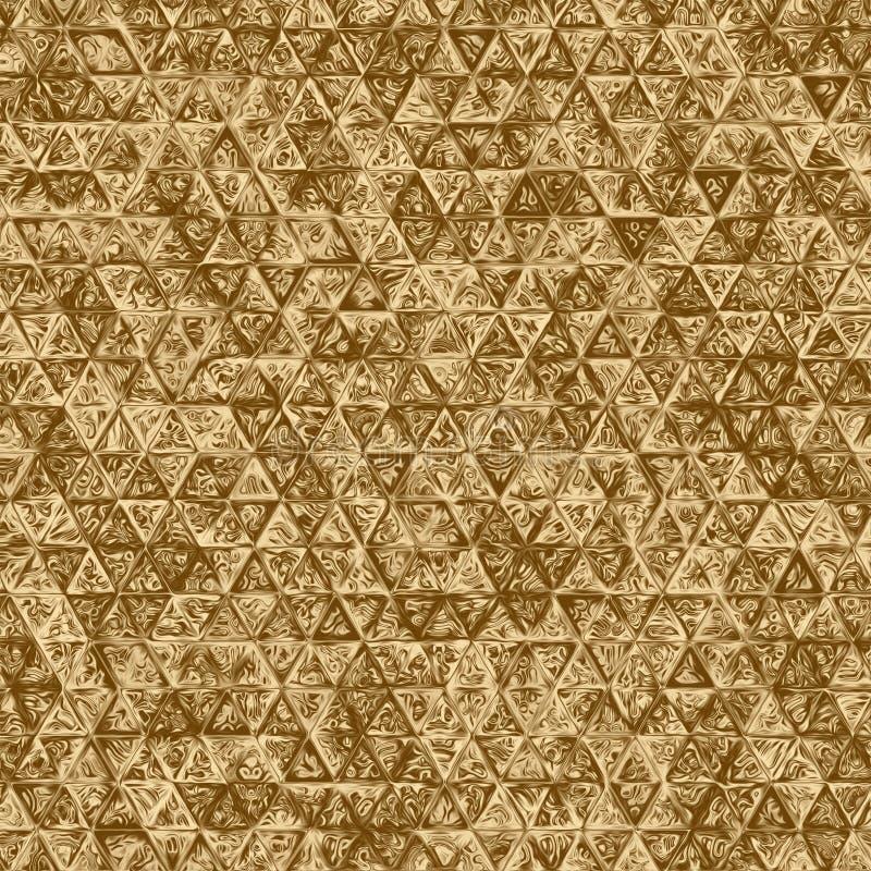 Élément d'abrégé sur mosaïque d'or et contexte de kaléidoscope, cadeau de modèle illustration de vecteur
