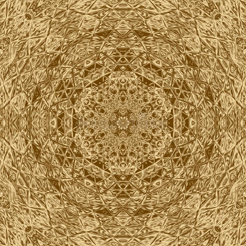 Élément d'abrégé sur mosaïque d'or et contexte de kaléidoscope, tuile illustration libre de droits
