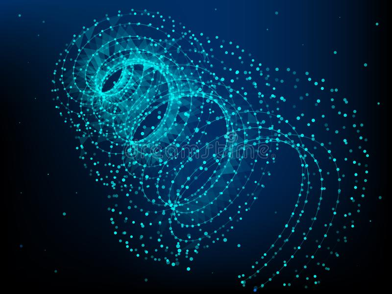 Élément d'hélice avec les lignes et les points reliés Grandes données illustration de vecteur