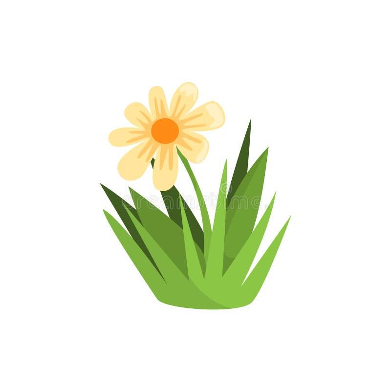 Élément d'isolement par fleur de camomille des buts de aménagement de jeu d'instantané de Forest Landscape Design For The illustration de vecteur