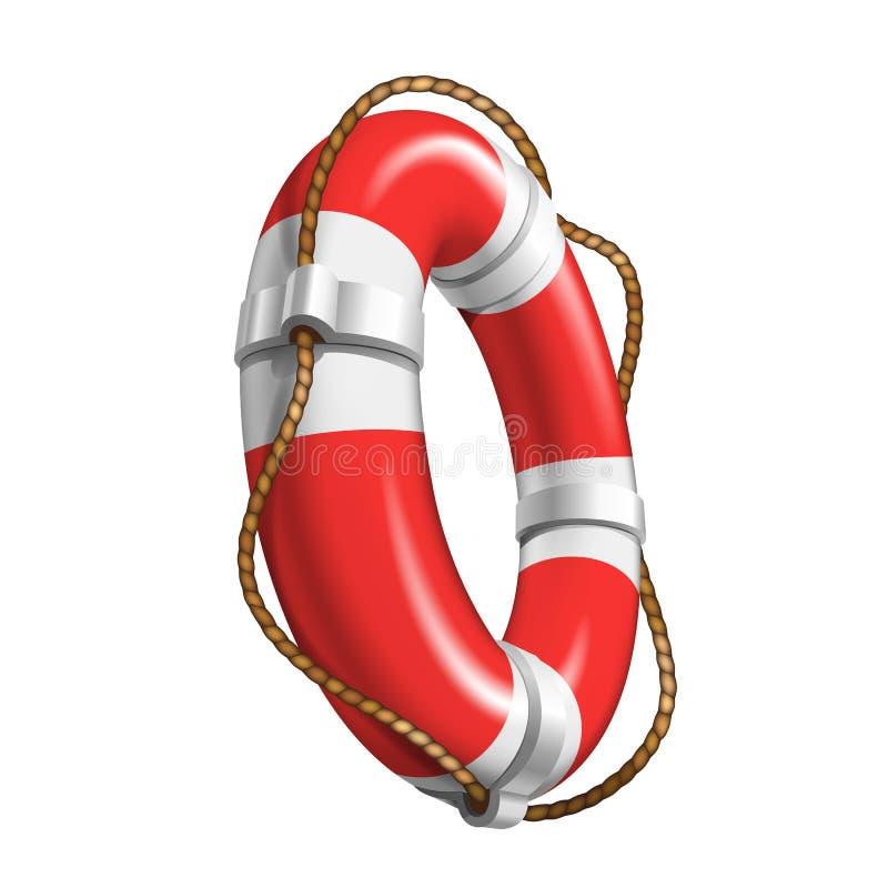 Élément de bateau de maître nageur pour l'aide noyant le vecteur illustration de vecteur