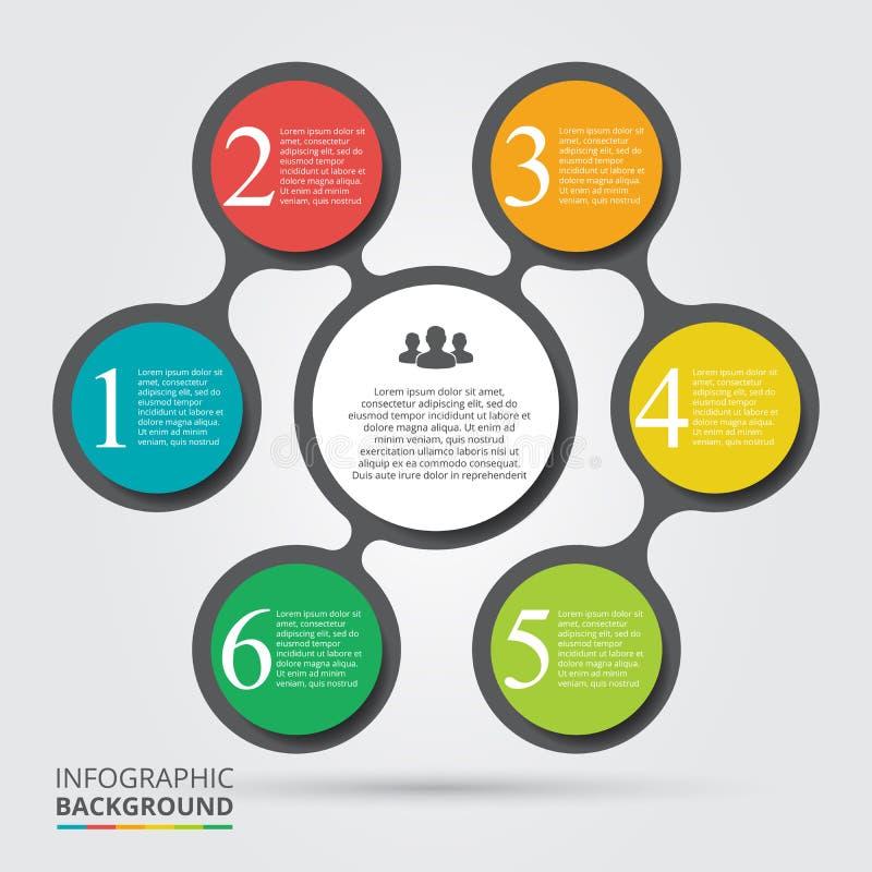 Élément de cercle de vecteur pour infographic illustration de vecteur