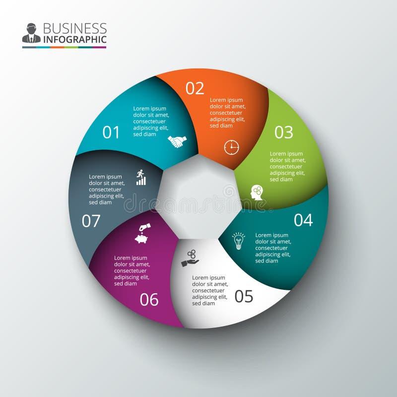 Élément de cercle de vecteur pour infographic illustration stock