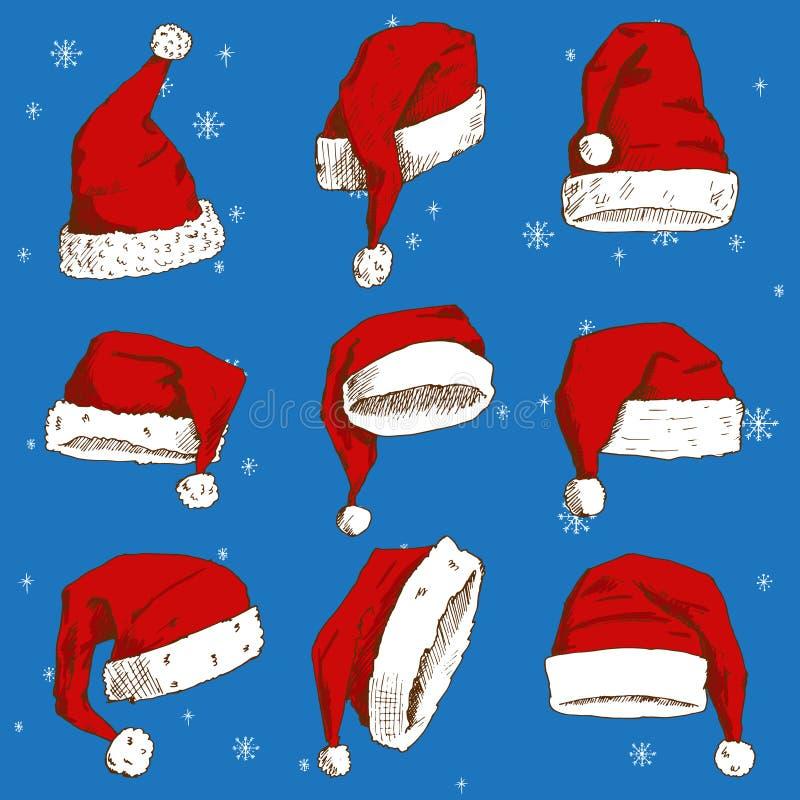 Élément de chapeau de décoration de conception de partie de Noël de chrétiens de nouvelle année d'illustration de noel de vecteur illustration de vecteur