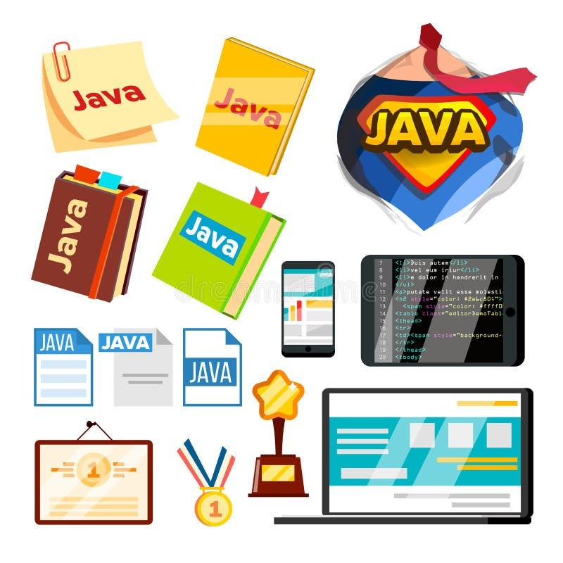 ?l?ment de collection de Java Programming Set Vector illustration libre de droits
