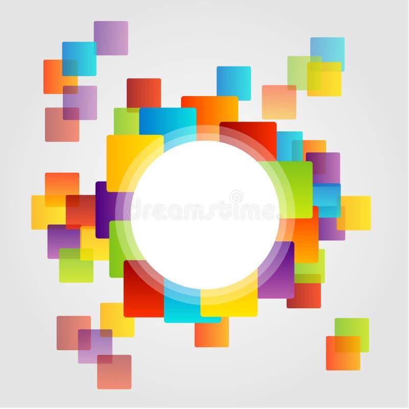 Élément de conception avec les places colorées illustration de vecteur