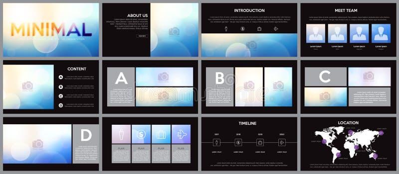Élément de conception d'infographics pour des calibres de présentations illustration stock