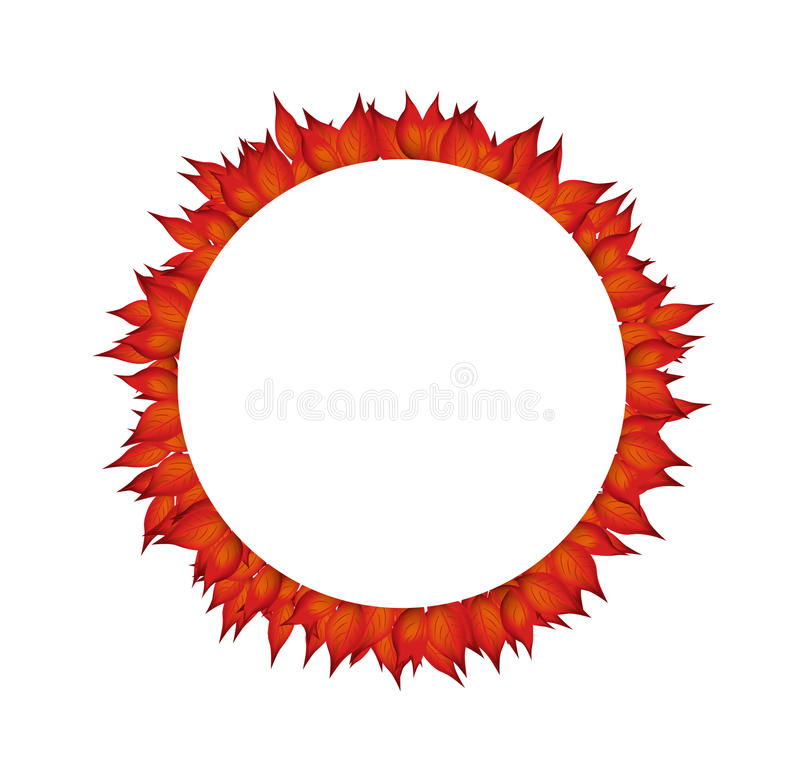 Élément de conception de cercle d'automne illustration de vecteur