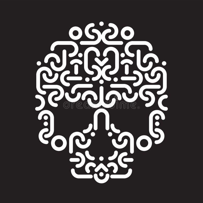 Élément de conception de crâne illustration stock