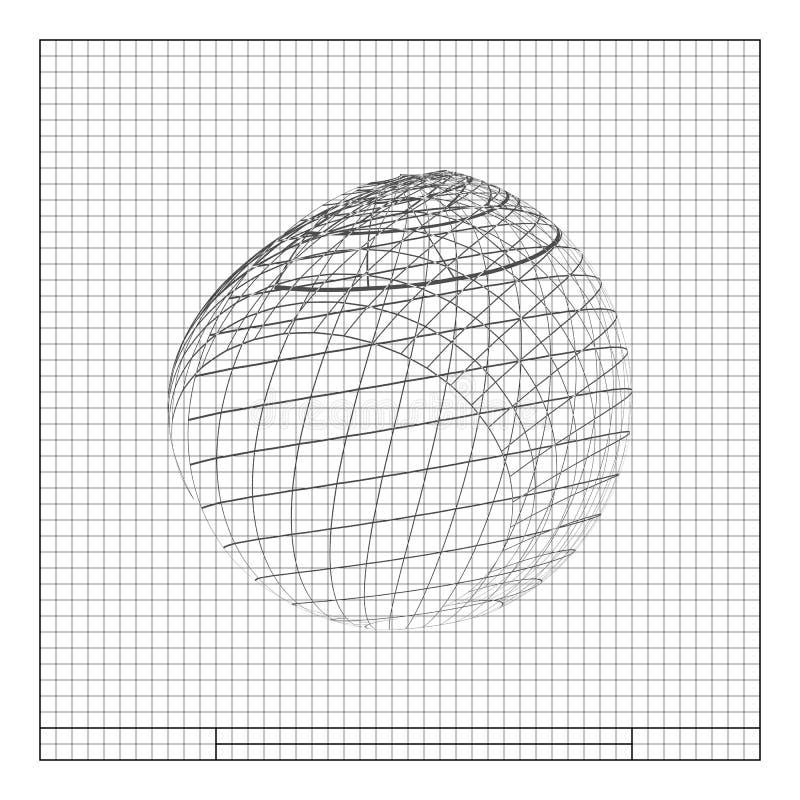 élément de conception de Fil-cadre sphère illustration libre de droits