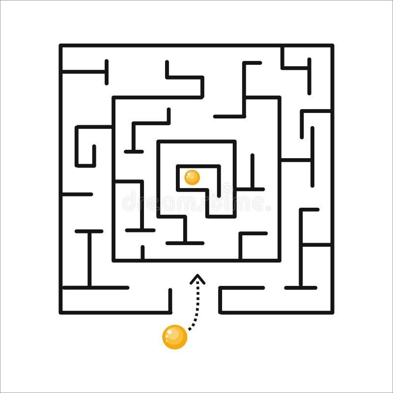Élément de conception de forme de labyrinthe de stratégie illustration libre de droits