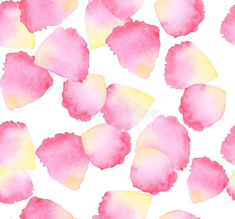 élément de conception de pétale de rose d'aquarelle illustration de vecteur