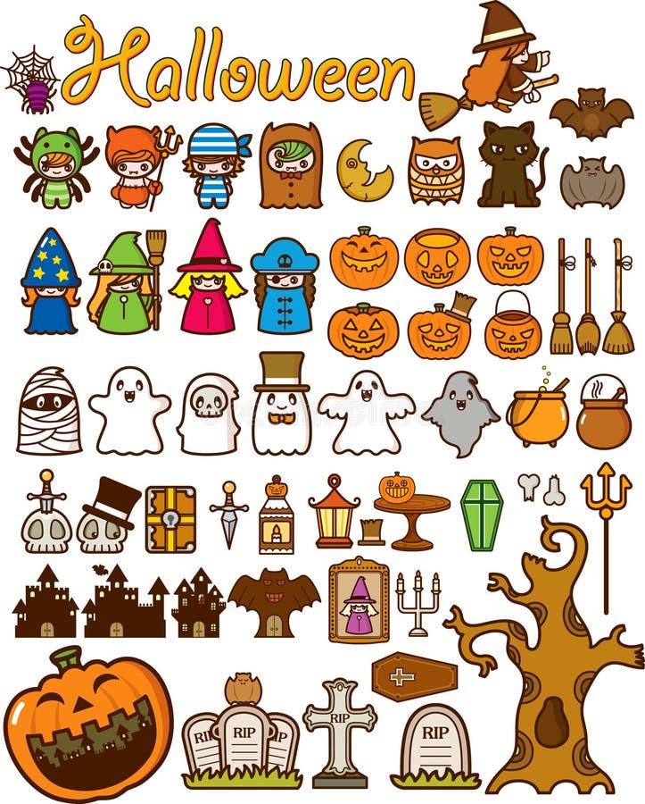 Élément de conception de vacances de Veille de la toussaint illustration stock