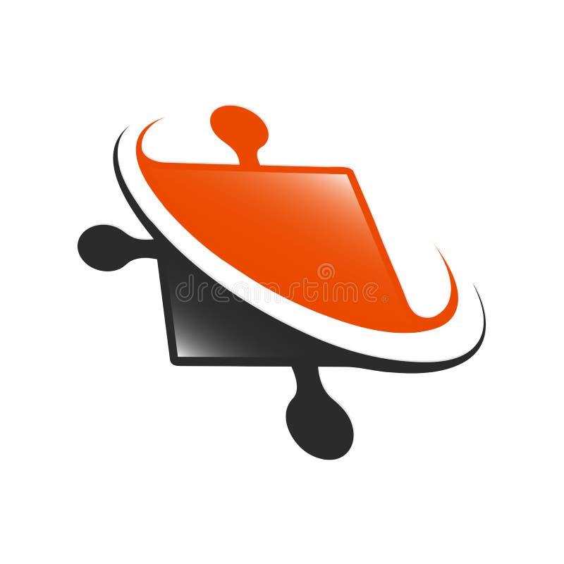 Élément de conception Ensemble abstrait de calibre de logo de vecteur de molécule d'eau illustration stock
