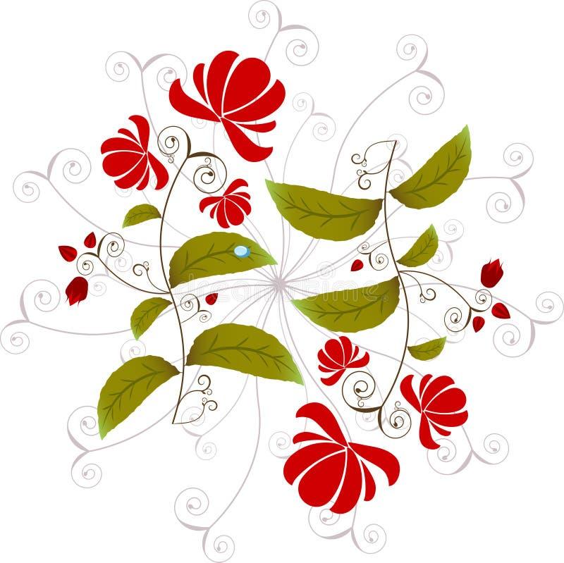 Élément de conception florale illustration de vecteur