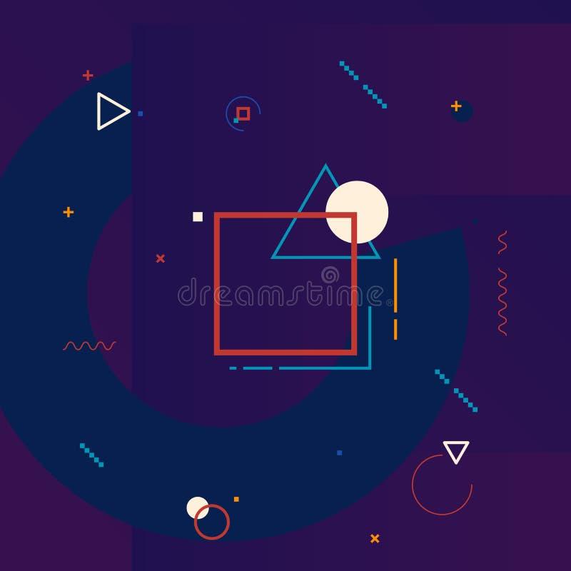 Élément de conception de graphiques de mouvement Dirigez le fond géométrique illustration stock