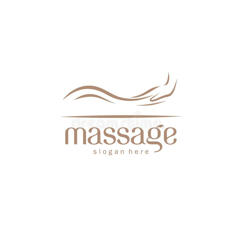 Élément de conception de logo de vecteur pour le salon de massage illustration de vecteur